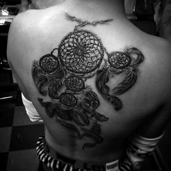 Mens Full Back Dreamcatcher Tattoos