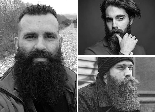 Fun World Black Mustache and Beard Facial Hair Set