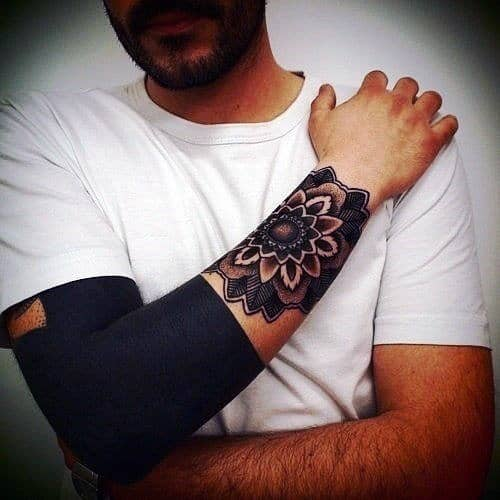 Mens Full Blackwork Tattoo Half Sleeve Design Ideas