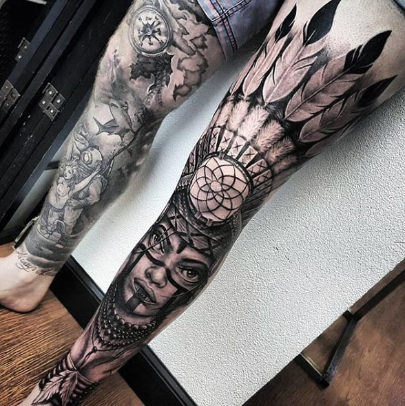 100 Dreamcatcher Tattoos For Men - Divine Design Ideas