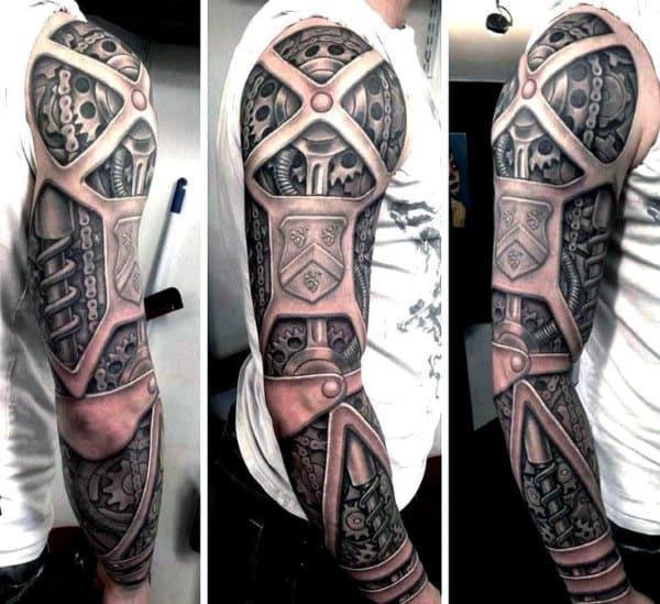Mens Full Sleeve Amazing Steampunk Tattoo