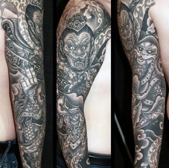 Mens Full Sleeve Monkey King Tattoo Deisgns