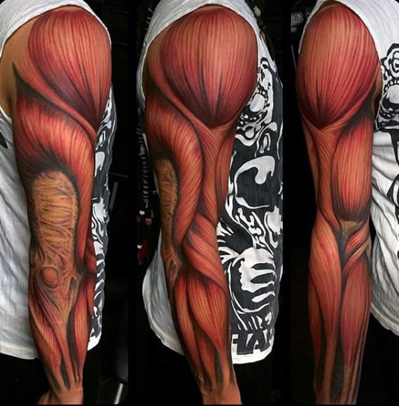 Mens Full Sleeve Muscle Tatoto Design Ideas