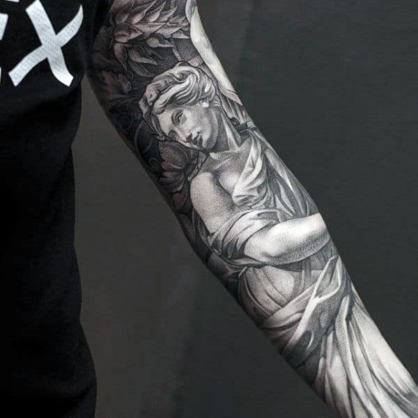 Mens Full Sleeves Cool Greek God Tattoo