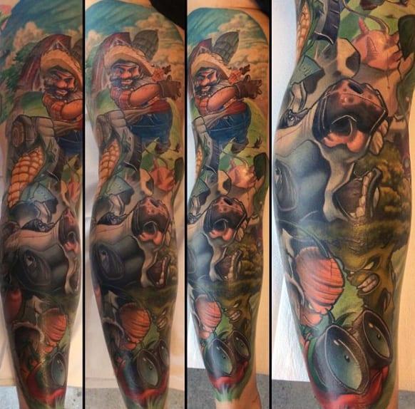 Mens Full Sleeves Fantastic New School Tattoo