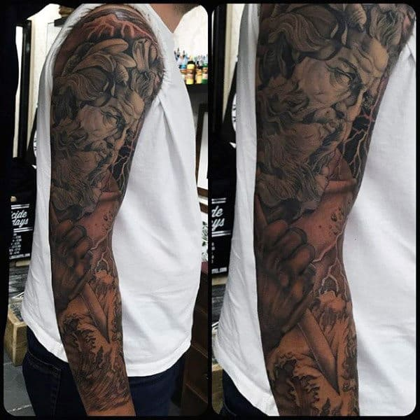 Mens Full Sleeves Wonderful Manly Tattoo Design Ideas