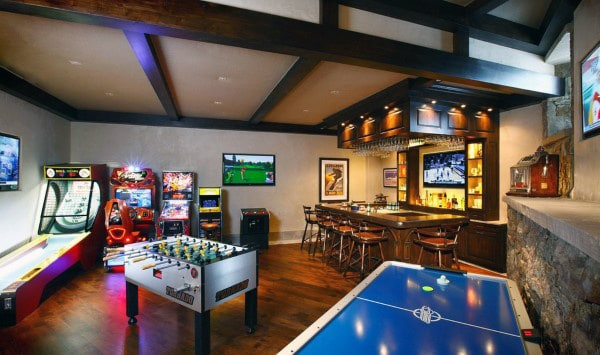 Mens Game Room Home Arcade Designs