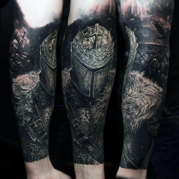 Mens Gamer Tattoo Forearm Sleeve