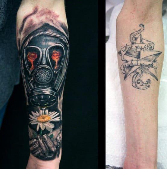 Mens Gas Mask Tattoo Designs