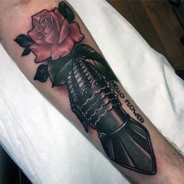 Mens Gauntlet Tattoo Design Ideas