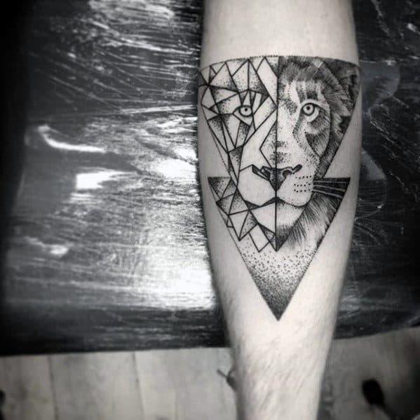 Mens Geometric Animal Tattoo Ideas