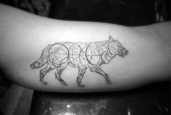 Mens Geometric Animal Tattoo