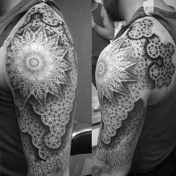 Mens Geometric Arm Tattoo Design Ideas