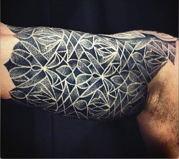Mens Geometric Shapes Tattoos On Bicep