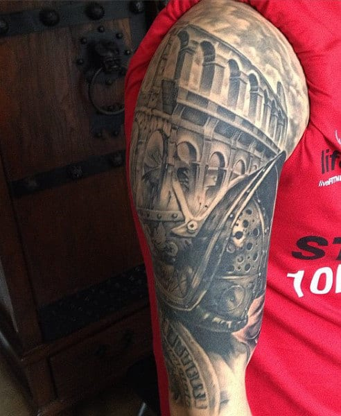 Men's Gladiator Sleeve Tattoo