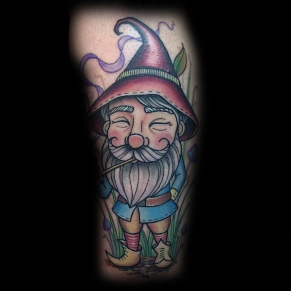 Mens Gnome Tattoo Ideas