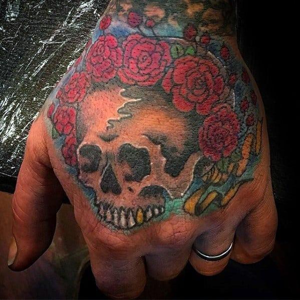 Mens Grateful Dead Tattoo Ideas On Hand