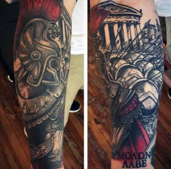 Men's Greek Spartan Tattoos