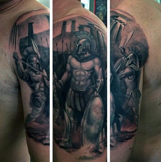 60 greek tattoos for men mythology and ancient gods. Black Bedroom Furniture Sets. Home Design Ideas