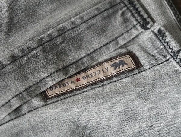 Mens Grey Dakota Grizzly Ryder Dress Casual Shirt Bottom Details