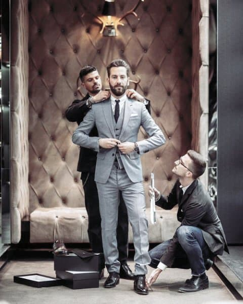 Mens Grey Suit Style Looks