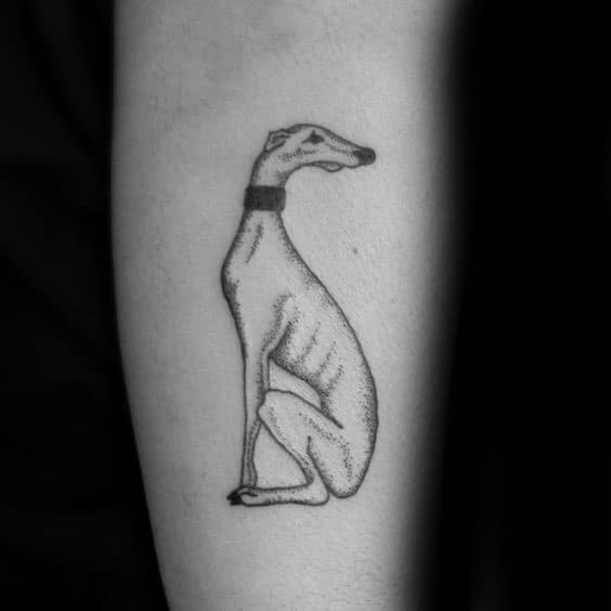 Mens Greyhound Simple Tattoo Ideas