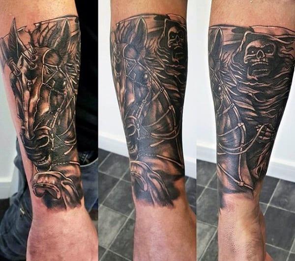 Men's Grim Reaper Design For Tattoos