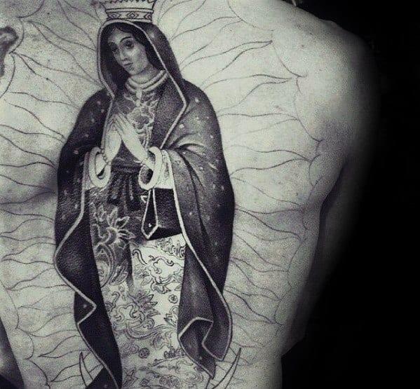 Mens Guadalupe Tattoo Ideas Full Back