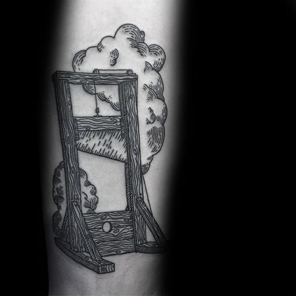 Mens Guillotine Tattoo Design Ideas