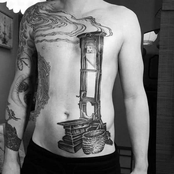 Mens Guillotine Tattoo Ideas