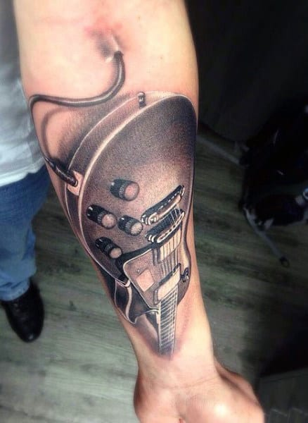 Men's Guitar Tattoos