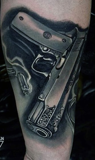 Men's Gun Tattoos