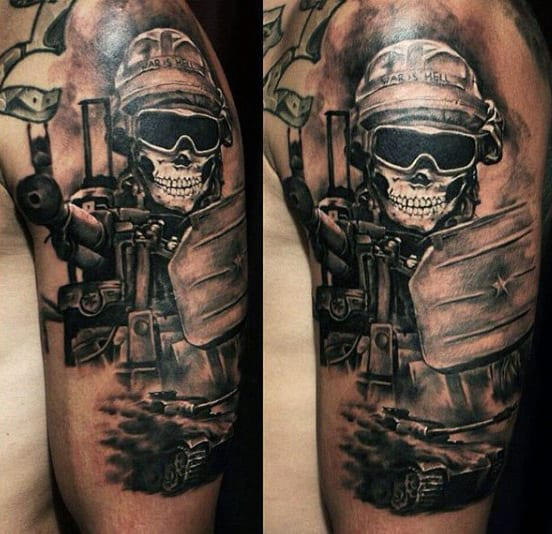 Men's Guns Tattoo