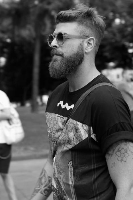 Mens Hair Hipster Messy Taper Fade