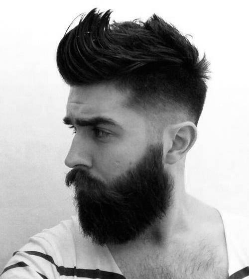 Men's Haircut Shaved Sides