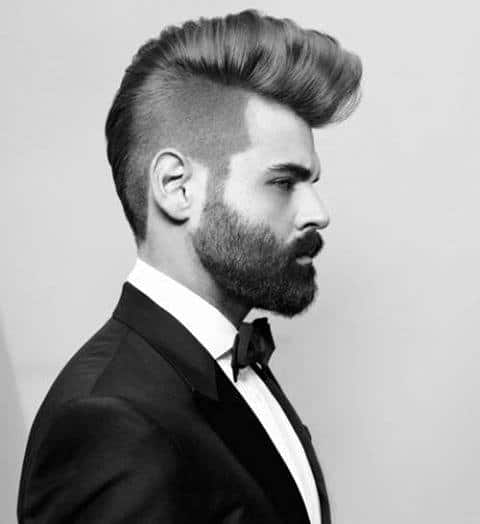 Men's Hairstyle Shaved Sides