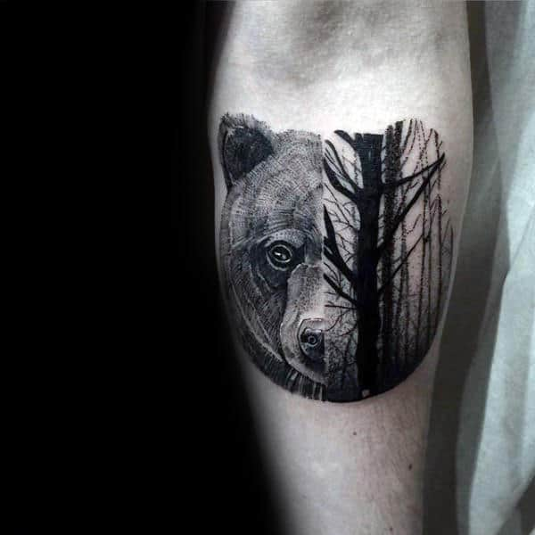 Bear Tattoo Small: 100 Forest Tattoo Designs For Men
