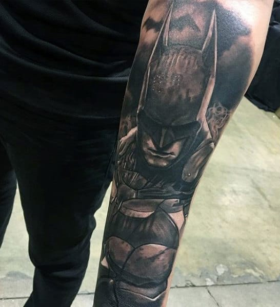 100 batman tattoos for men superhero ink designs. Black Bedroom Furniture Sets. Home Design Ideas