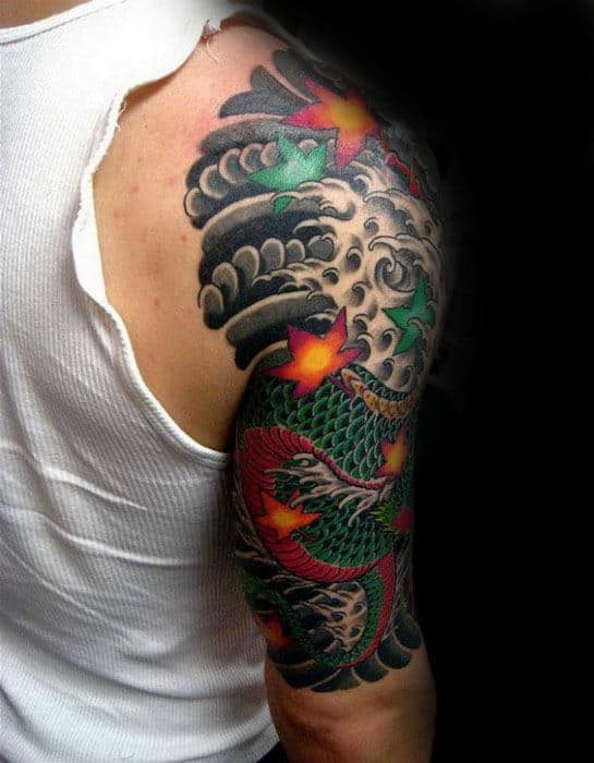 60 Japanese Half Sleeve Tattoos For Men Manly Design Ideas,Graphic Design Online Portfolio