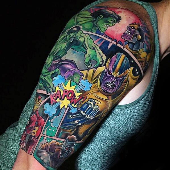 Marvel Sleeve Tattoo Designs