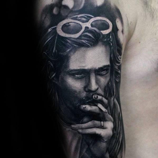 Mens Half Sleeve Nirvana Tattoo Design Ideas