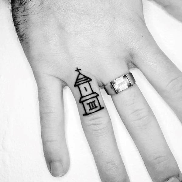 Small Church Tattoo: 60 Small Hand Tattoos For Men