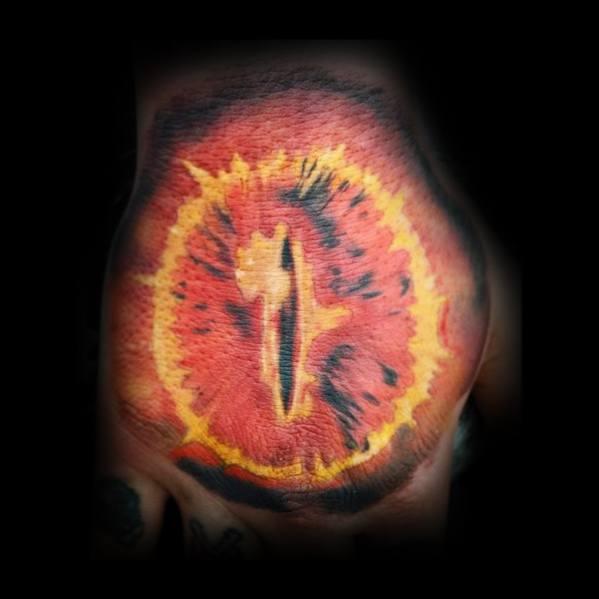 Mens Hand Eye Of Sauron Tattoo Ideas