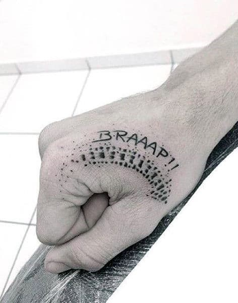 Mens Hand Motocross Tattoo Ideas