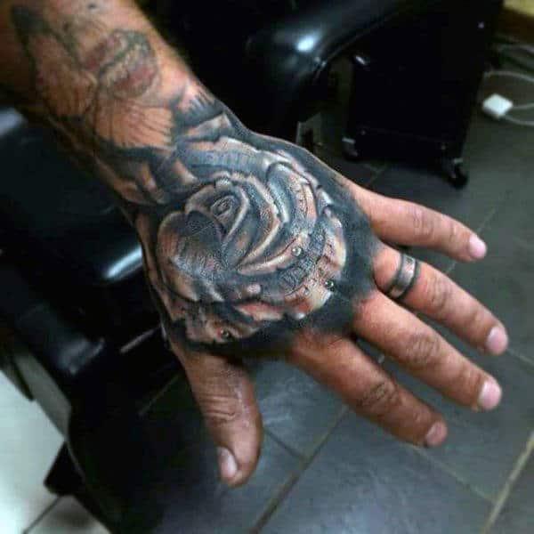 nexluxury money 9 rose hand tattoos