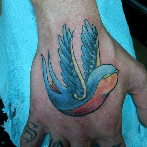 Sparrow tattoo for men - photo#34