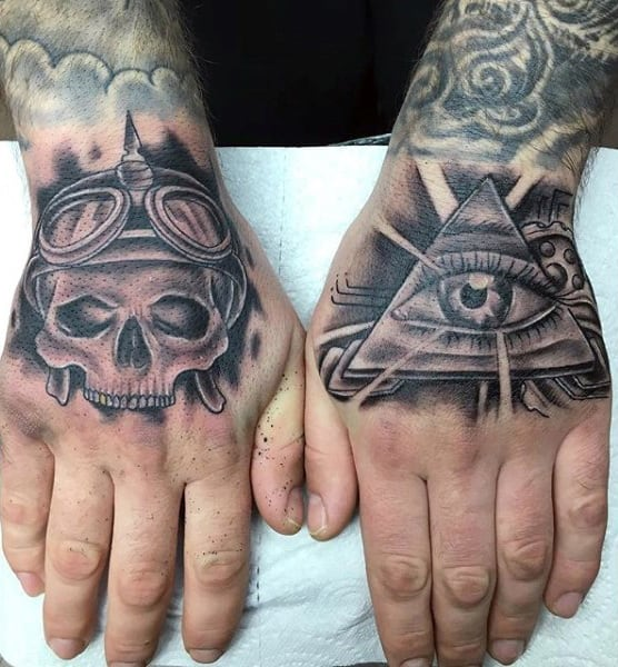 Mens Hands Illuminati Tattoo