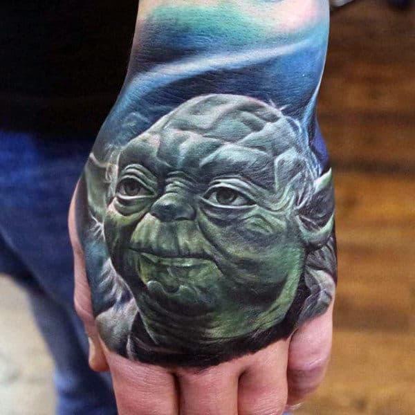 Mens Hands Star Wars Tattoo