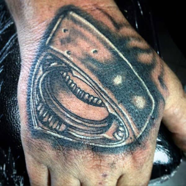 Mens Hard Engine Part Tattoo Rotary Design
