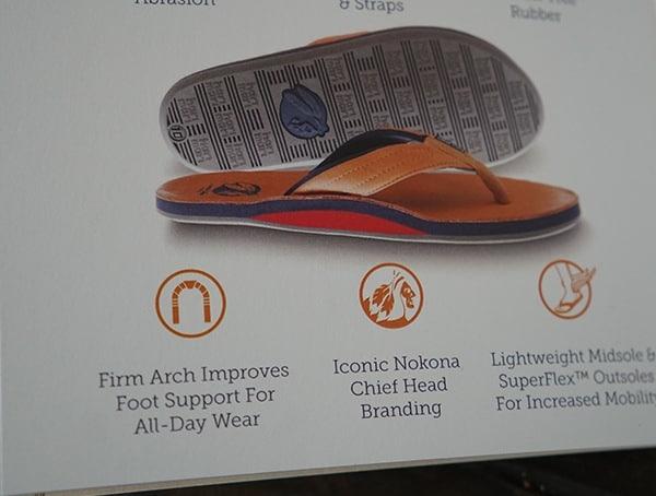 Mens Hari Mari X Nokona Flip Flops Detail